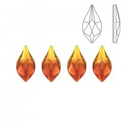 Swarovski 2205 Hotfix Crystal Flame Fire Opal 7.5mm PK4