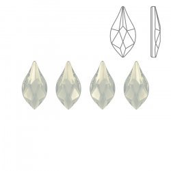 Swarovski Hotfix 2205 Flame Flat Backs White Opal 7.5mm