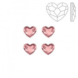 Swarovski 2808 Hotfix Heart Flat Backs Antique Pink 6mm