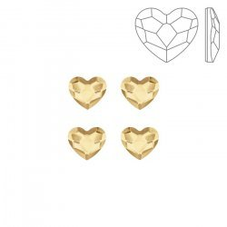 Swarovski 2808 Hotfix Heart Flatbacks Golden Shadow 6mm