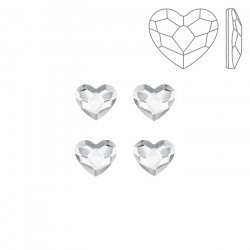 Swarovski 2808 Hotfix Flat Backs Heart Crystal 6mm PK4