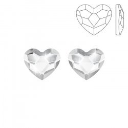 Swarovski 2808 Hotfix Heart Flat Backs Crystal 10mm PK2