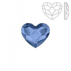 Swarovski Hotfix 2808 Flat Back Heart Denim Blue (14mm)