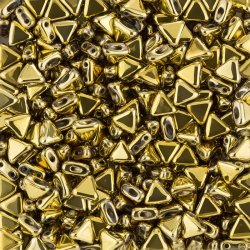 Kheops® Par Puca® Czech Triangle Beads 6mm Full Dorado
