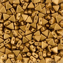 Czech Kheops® Par Puca® 6mm Glass Bead Bronze Gold Matt