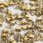 Czech Kheops® Par Puca®  Beads 6mm Crystal Dorado - 9g