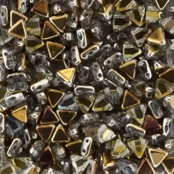 Kheops® Par Puca® Czech Beads 6mm Crystal Tabac 9 gram