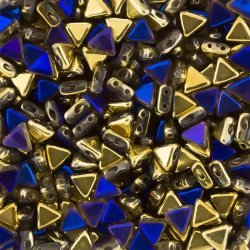 Kheops® Par Puca® Triangle Beads California Blue 6mm 9g