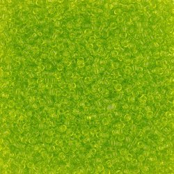 Toho Round Seed Beads 11/0 Transparent Lime Green 8.2g