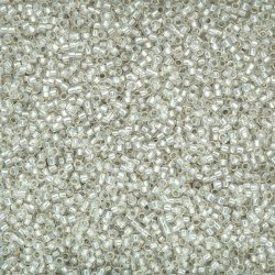 Toho Size 15/0 Seed Beads Silver Lined Milky White 8.2g