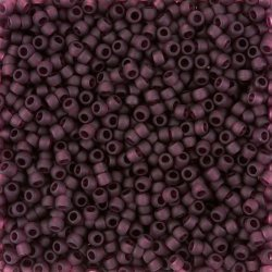 Toho Seed Beads Size 8 Transparent Frosted Amethyst 10g