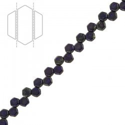 Honeycomb Beads Matte Royal Dark Travertine (6mm) PK30