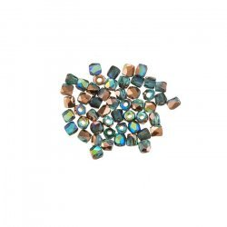 2mm Fire Polished Beads True2™ Aqua Copper Rainbow PK50