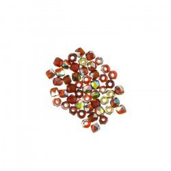 2mm Czech Fire Polished True2™ Beads Siam Vitrail PK50