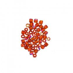 2mm Czech Fire Polished True2™ Glass Beads Siam AB PK50