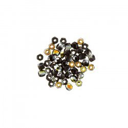 Fire Polished True2™ 2mm Czech Beads - Jet Marea (PK50)
