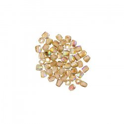 2mm Fire Polished True2™ Beads - Crystal Brown Rainbow