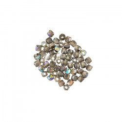 True2™ 2mm Fire Polished Beads Crystal Graphite Rainbow