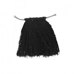 35mm Nylon Cord Tassels Black For Jewellery Making PK6