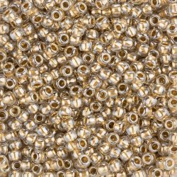 Toho Round Size 6/0 Gold Lined Crystal Seed Beads 11.5g