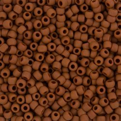 Toho Size 6 Opaque Frosted Terra Cotta Seed Beads 11.5g
