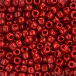 Toho Size 3/0 Round Opaque Pepper Red Seed Beads 19.5g