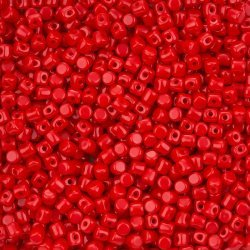 Czech Glass Minos® par Puca® Beads Opaque Coral Red 9g