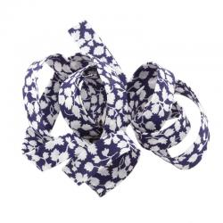 Liberty of London 10mm Blue Bias Ribbon Glenjade N - 1m