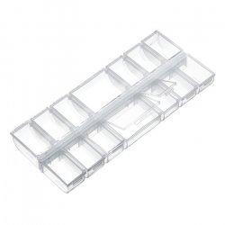 Bead Storage Box 14 Compartments Clear Plastic (240mm)