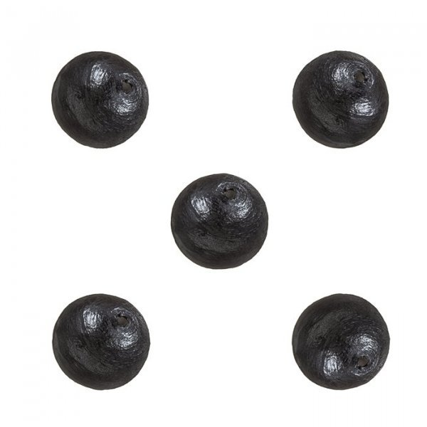 Miyuki Cotton Pearls (8mm) Round Beads Black Pack of 5