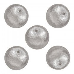 Miyuki Cotton Pearls Lightweight Round Beads Grey 12mm