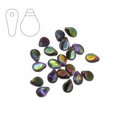 Preciosa Pip™ 7mm Czech Beads Crystal Magic Purple PK20