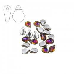 Preciosa Pip™ 7mm Czech Glass Bead Crystal Volcano PK20