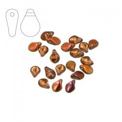 Preciosa Pip™ 7mm Czech Glass Beads Crystal Sunset PK20