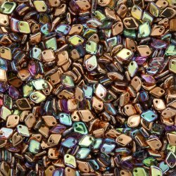 Dragon® Scale 5mm Crystal Copper Rainbow Glass Beads 9g