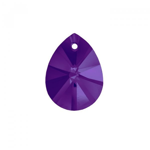 12x16mm AAA Faceted Crystal Pear Glass Pendant Violet