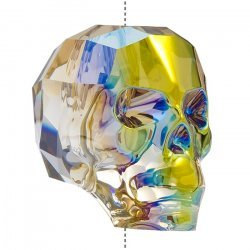 Swarovski 5750 Crystal Skull Bead Iridescent Green 19mm