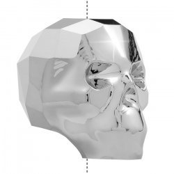 Swarovski 5750 Crystal Skull Bead Light Chrome 19mm PK1