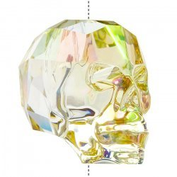 Swarovski 5750 Crystal Skull Bead Luminous Green (19mm)