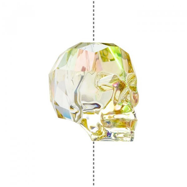 5750 Swarovski (13mm) Crystal Skull Bead Luminous Green