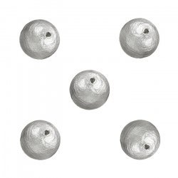 Miyuki Cotton Round Pearl Beads Grey (8mm) Pack of 5