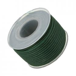 Green 1.5mm Waxed Cotton Jewellery Bead Cord 10m Spool