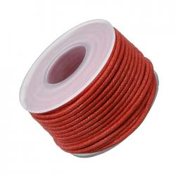 Red 1.5mm Waxed Cotton Jewellery Bead Cord 10m Spool
