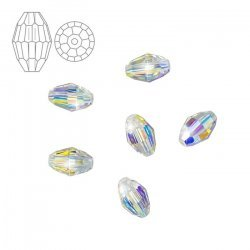 Swarovski 5200 Crystal Oval Beads