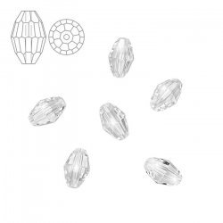 Swarovski 5200 Faceted Oval Beads (6x4mm) Crystal - PK6