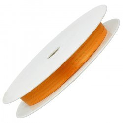 3mm Double Faced Satin Jewellery Ribbon Orange 50 Metre