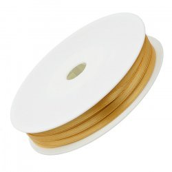 3mm Double Faced Satin Jewellery Ribbon Light Gold 50m