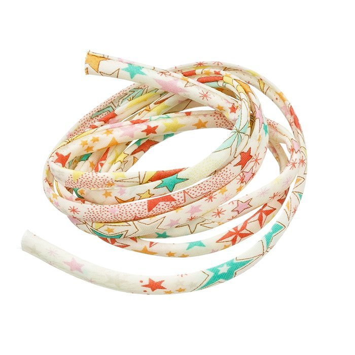 N28//2 Liberty of London 100/% Cotton 4mm Ribbon Adelajda C Print Cord 1m