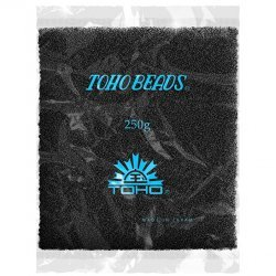 Toho Wholesale 15/0 Opaque Frosted Jet Seed Beads 100g