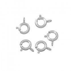 Sterling Silver Bolt Ring Clasp Findings 11.5x8mm PK5